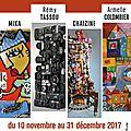 5ème et dernière exposition de la saison 2017 au village d'artistes de rablay-sur-layon (49)