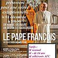 Soirée ciné familles autour du pape françois le 02 décembre