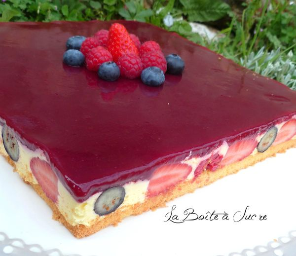 Bavarois citron fruits rouges 3