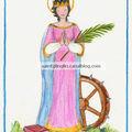 Sainte catherine d'alexandrie, martyre