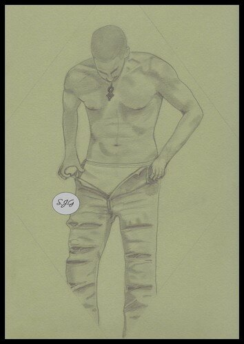 Dessin d'homme sexy