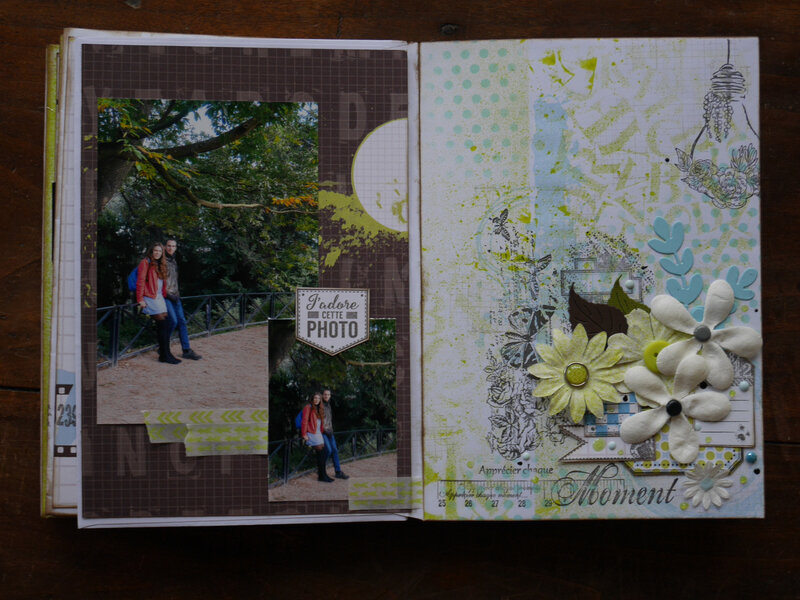 ordre des pages souvenirs en bleu et vert scrapayam (8)