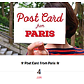 Expo postcard from paris by the parisianer !