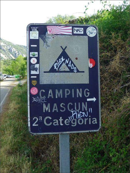 Guara Rodellar panneau camping Rien 062012