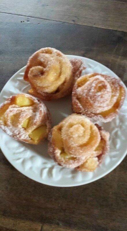 beignets roulés aux pommes Michelle Llopis