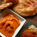 Curry de crevettes et naans.... un petit tour à bollywood