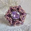 Bague chinese purple stone