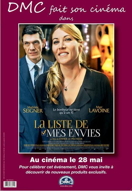 LA LISTE DE MES ENVIES AU CINEMA LE 28 MAI 2014