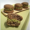 Whoopies petits pois & menthe