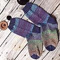 Petit grain, chaussettes rayées fantaisie