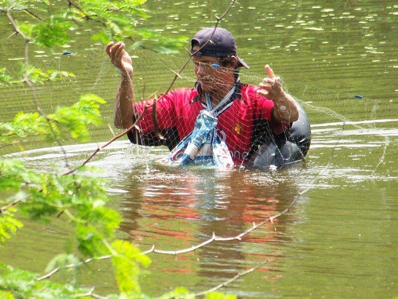 pêcheur au filet