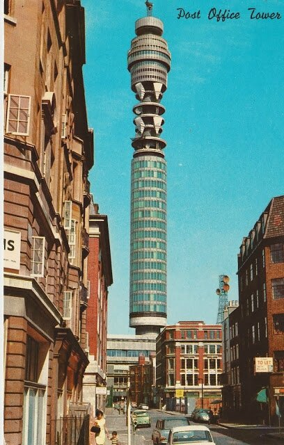The Post Office Tower London The ultimate in British sci-fi architecture early 60s
