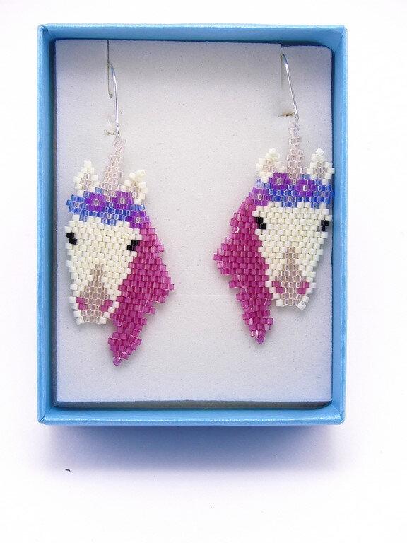 Paire de boucles d'oreilles Licornes - Unicorns pair of earrings