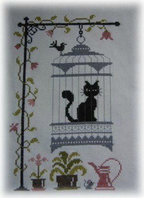 broderie chat finie