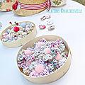 boîtes à yoyos et perles de couture - créations marimerveille