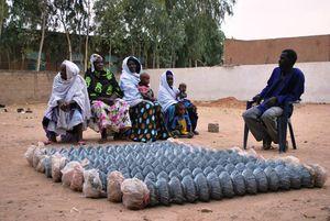 Le bureau de l'association des femmes de Gawdé Bofé avec Abù Ndiadé - Février 2012_1