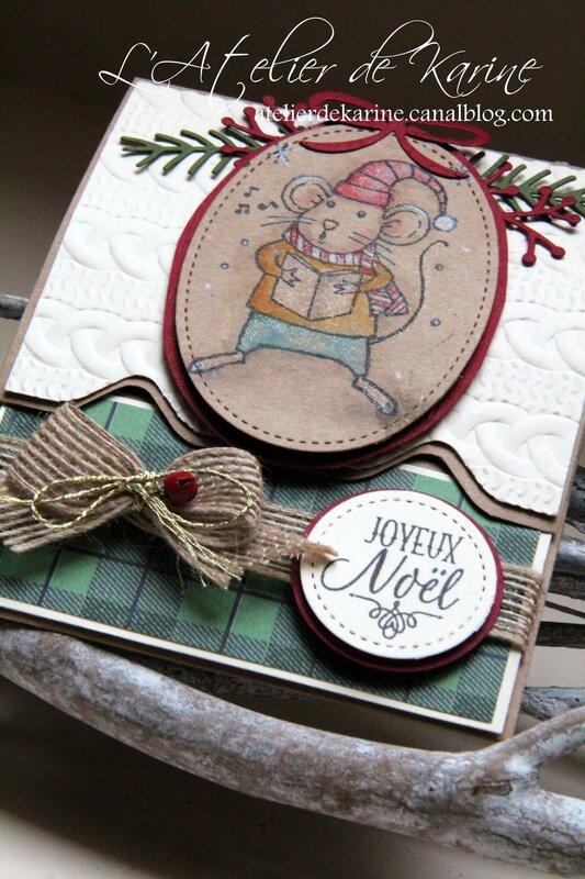 Carte pochette cadeau de Noël 2