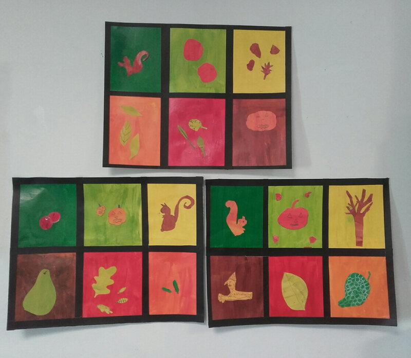 couleurs automne, groupe des moyens, mercredi matin (7/10 ans)