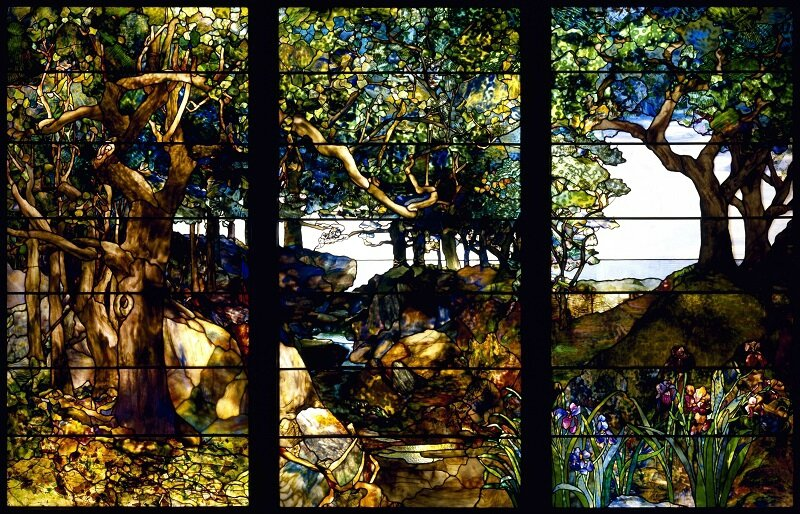 tiffany-a_wooded_landscape_in_three_panels