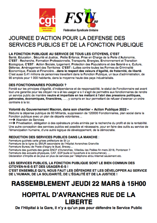 tract-CGT-FSU-journée-défense-service public-Avranches-mars-2018