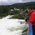 Un enorme barrage en arrivant a Lillehammer