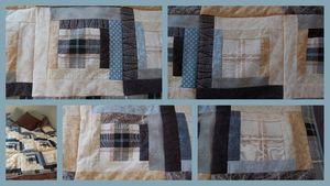 patch couverture de lit mosaïque