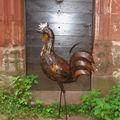 Coq sculpté