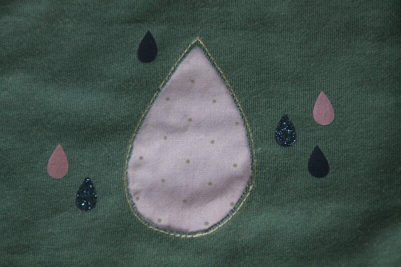 Robe babydoll Papillon et mandarine jersey France duval stalla vert canard (4)