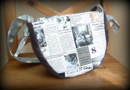 sac besace velours