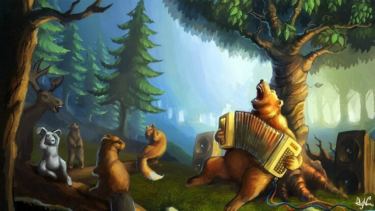 image ours musicien pour blog