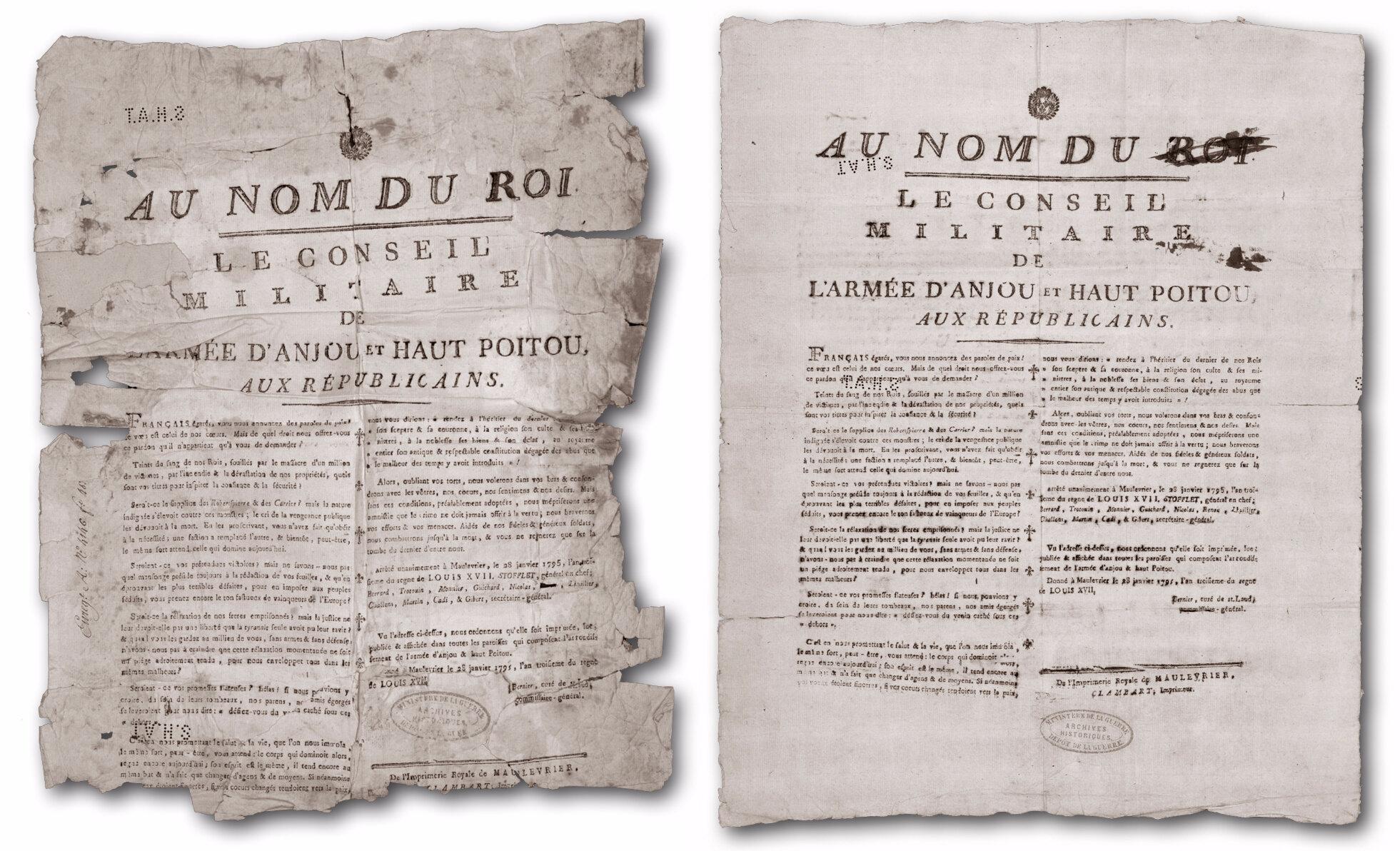 En février 1795, Stofflet placarde jusque dans la Vienne
