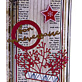 Carte bois et rouge - red and wood card