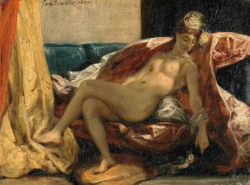 Femme nue au perroquet