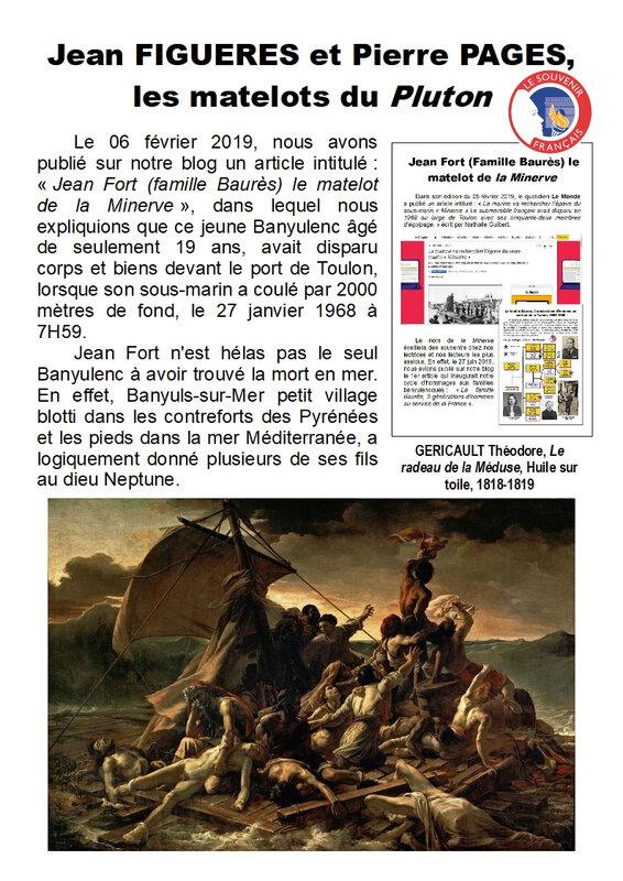 21) Jean Figueres et Pierre Pages matelots du Pluton - Page 1