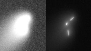 ison UFO multiple bodies 2013
