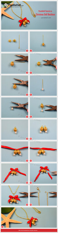 3-PandaHall-Tutorial-on-Christmas-Bell-Necklace