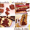 Cake marbré de noël