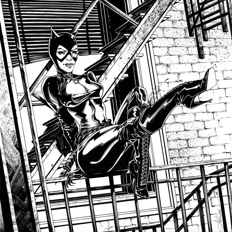 Catwoman_RJ_N&B