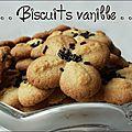 Biscuits vanille à la presse à biscuits