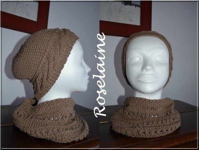 Roselaine Adriafil bonnet tour de cou