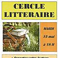 Cercle littéraire mai 2018