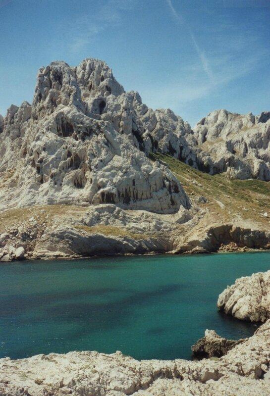 Marseille, la baie des Singes, le rocher