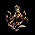 A gilt-copper figure of vasudhara, nepal, 14th century
