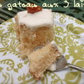 Le gâteau aux trois laits (pastel de tres leches)
