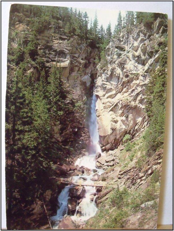 Pralognan-la-Vanoise - cascade de la Fraiche - datée 1982