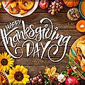 Menu de thanksgiving