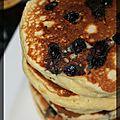P'tits pancakes aux myrtilles et à la ricotta
