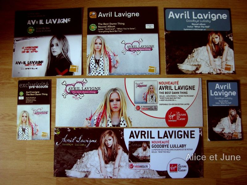 Album Cover - French PLV Fnac and Virgin from 2004 to 2011