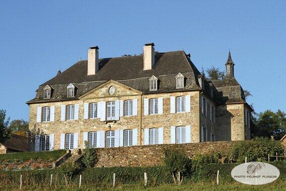 BRIVEZAC_chateau_de_LA_GREZE_facade_ouest_
