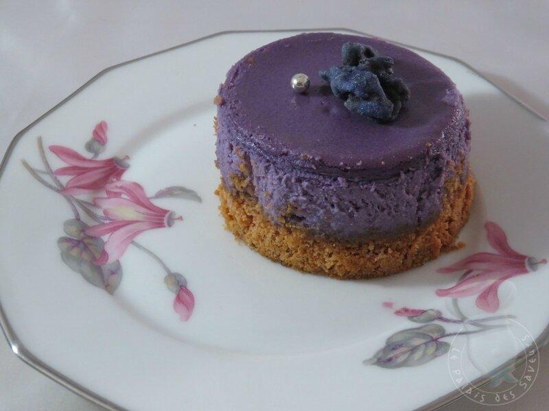 Cheesecake à la violette